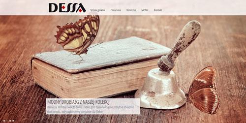 strona internetowa zaprojketowana dla firmy sprzdającej antyki