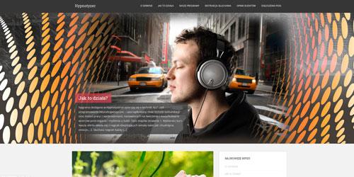 Projekt strony internetowej wykonanej dla dystrybutora nagrań audio