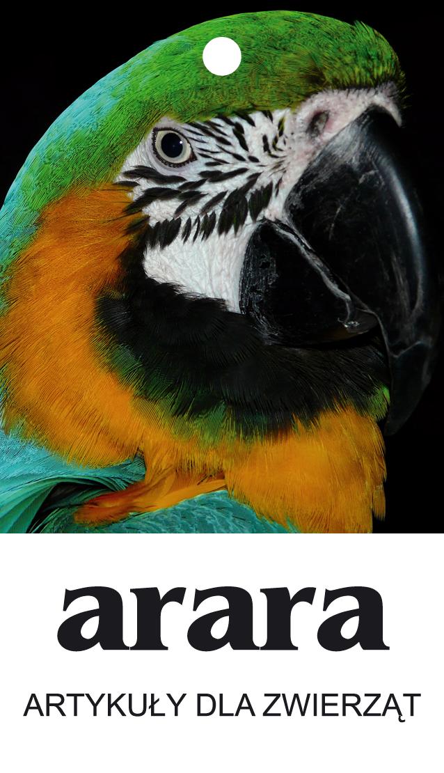 Metki do ubrań z papugą